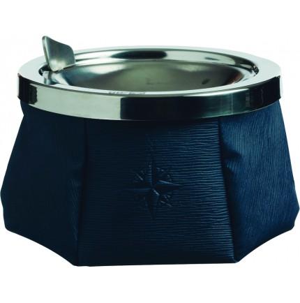 Cendrier bleu marine antivent avec couvercle