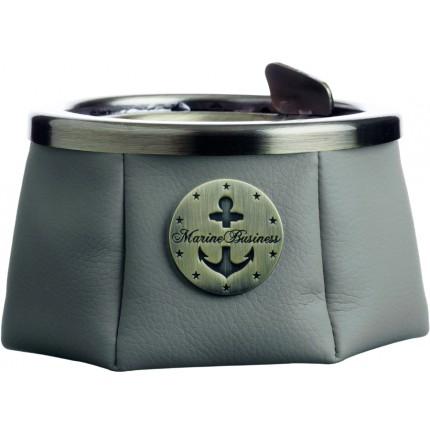 Cendrier Luxe gris pour bateau avec couvercle