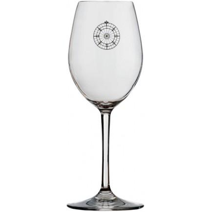 6 verres à eau rose des vents