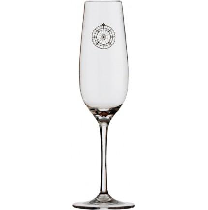 6 verres à champagne rose des vents