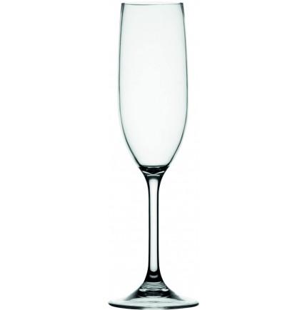 6 flûtes à champagne transparentes antidérapantes