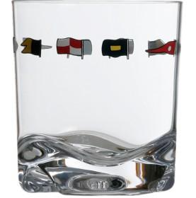 """6 verres à eau avec liseré drapeaux - """"REGATA"""""""