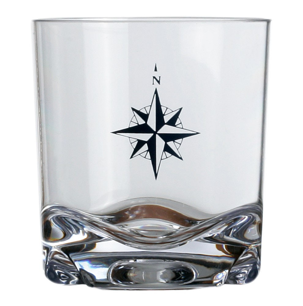 "6 verres à whisky motif rose des vents - ""NORTHWIND"""