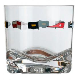 """6 verres à whisky motif drapeaux - """"REGATA"""""""