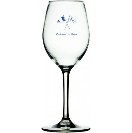 6 verres à vin antidérapants sérigraphie marine