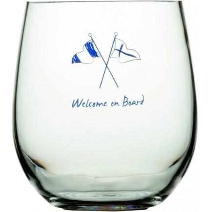 6 verres à eau boule antidérapants