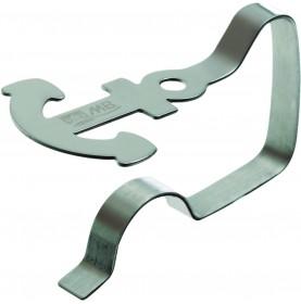 4 pinces de nappe forme ancre, acier inoxydable