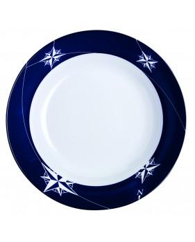 """6 assiette à soupe creuse à bordures bleues marine - """"NORTHWIND"""""""