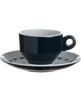 6 tasses et sous-tasses à café bleues marine