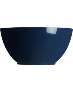 Saladier bleu + couverts blancs à motifs nautique