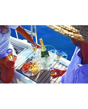"""Set à champagne : seau + porte-flûtes et coupelles à apéritif - """"PARTY"""""""