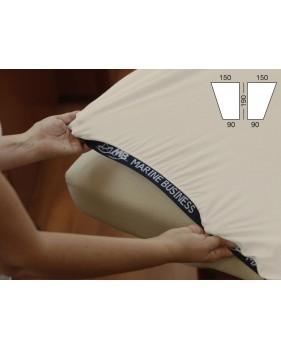 Drap housse de bateau pour lit de forme triangle avant en 2 parties
