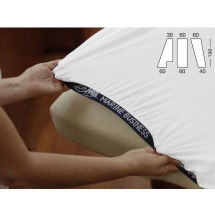 Drap housse de bateau pour lit de forme triangle avant en 3 parties