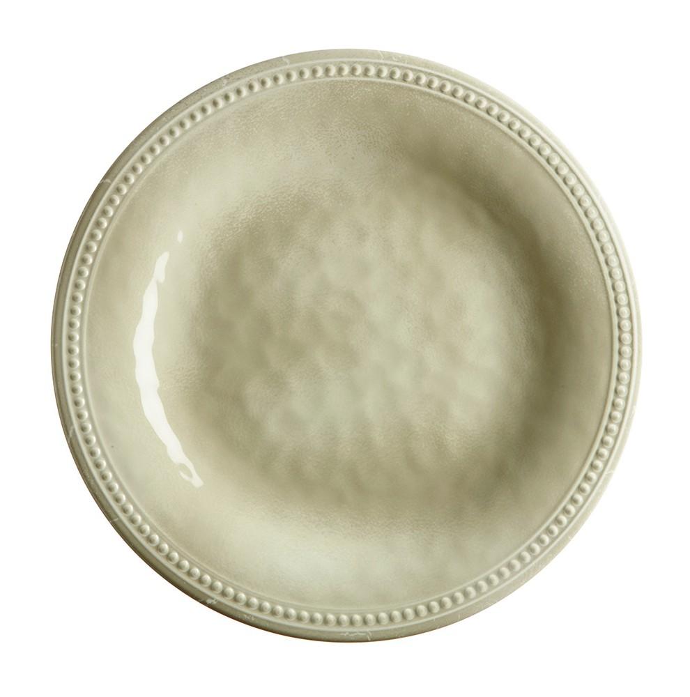 """6 assiettes plates effet terre cuite contour perlŽé - """"HARMONY"""""""
