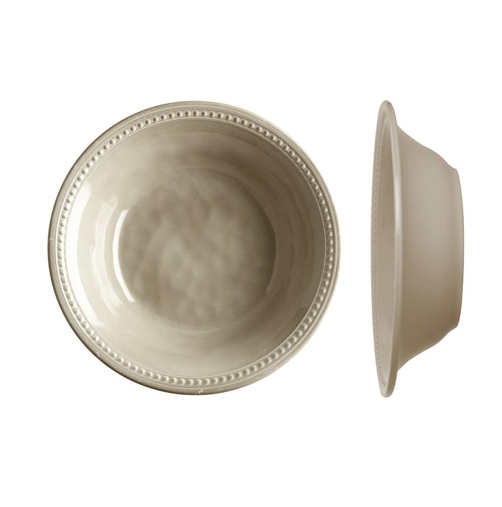 """6 assiettes creuses perlŽées effet terre cuite couleur sable - """"HARMONY"""""""
