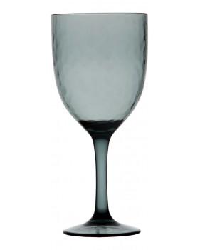 """6 verres ˆà vin transparents martelŽés couleur bleue lagon - """"HARMONY"""""""