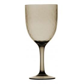 6 verres à vin transparents martelŽés couleur beige