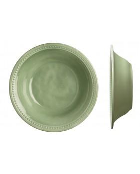 6 assiettes creuses perlées couleur menthe