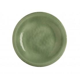 """6 petites assiettes plates vertes pâles - """"TOSCANA"""""""