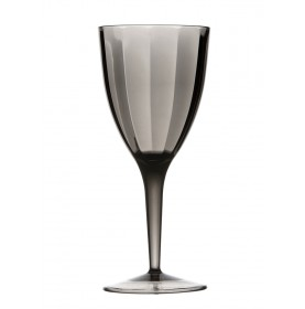3 verres à vin gris transparent à facettes