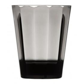 6 gobelets à eau gris à facettes