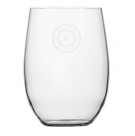 verre à eau en Tritan™ forme boule à rose des vents
