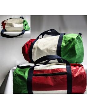 Grand sac de voyage en voile recyclée 29 x 63 cm