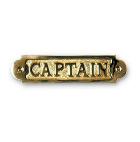"Plaque décorative en laiton ""CAPTAIN"""