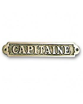 """Plaque décorative en laiton """"CAPITAINE"""""""