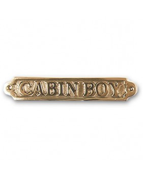 "Plaque décorative en laiton ""CABIN BOY"""