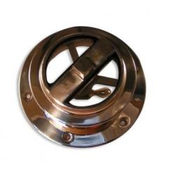 Cendrier blanc antivent simili cuir avec couvercle