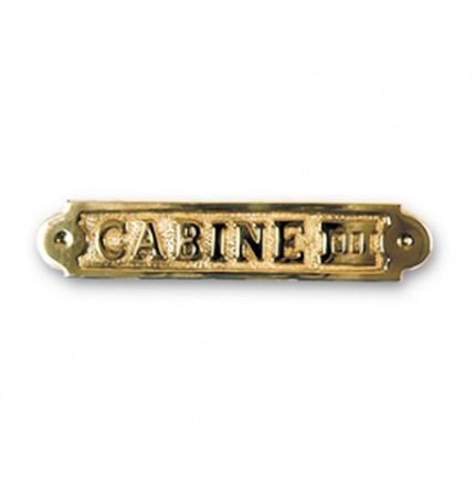 """Plaque décorative en laiton """"CABINE III"""""""