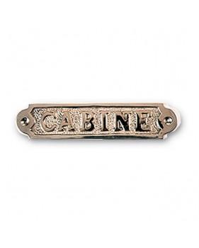 """Plaque décorative en laiton """"CABINE"""""""