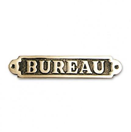 """Plaque décorative en laiton """" BUREAU """""""