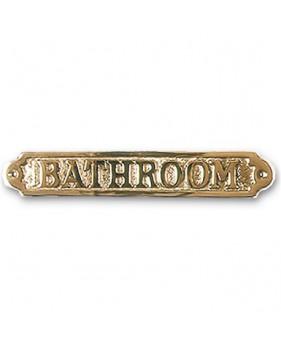 """Plaque décorative en laiton """" BATHROOM """""""