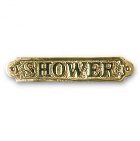 "Plaque décorative en laiton "" SHOWER """