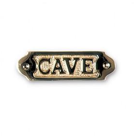 """Plaque décorative en laiton """" CAVE """""""