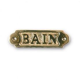 """Plaque décorative en laiton """" BAIN """""""