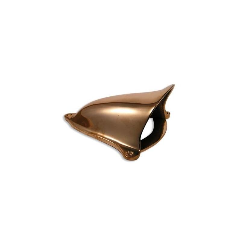 Cendrier marron antivent avec couvercle