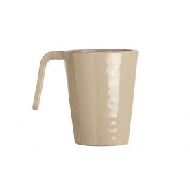 "6 mugs martelés sable - "" HARMONY """