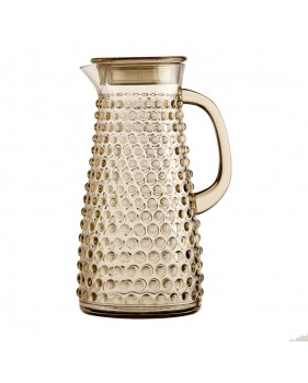 Pichet à eau couleur beige-marron style art-déco