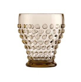 Ensemble de 6 verres à eau transparents tons beige