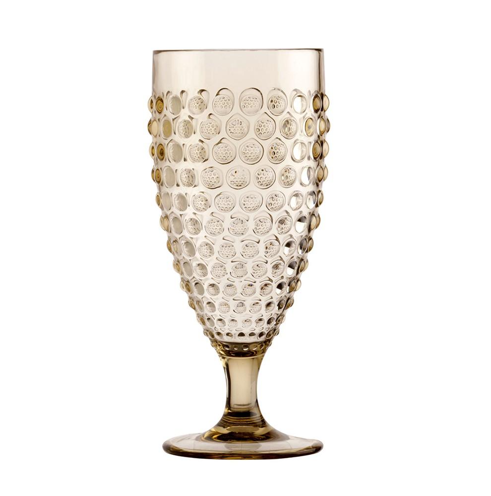 Set de 6 verres à vin transparents avec reliefs