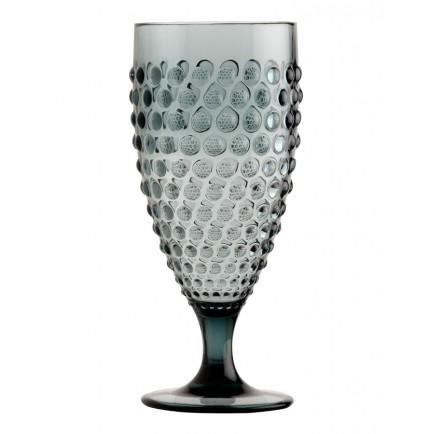 Set de 6 verres à vin transparents gris foncé