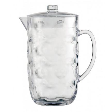 Grand pichet à eau transparent avec couvercle