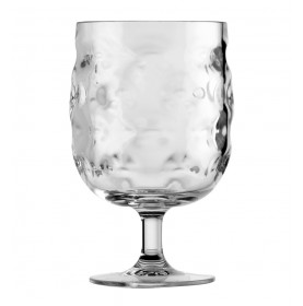 Set de 6 verres à vin transparents gris clair