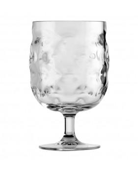 Set de 6 verres à vin transparents gris clair
