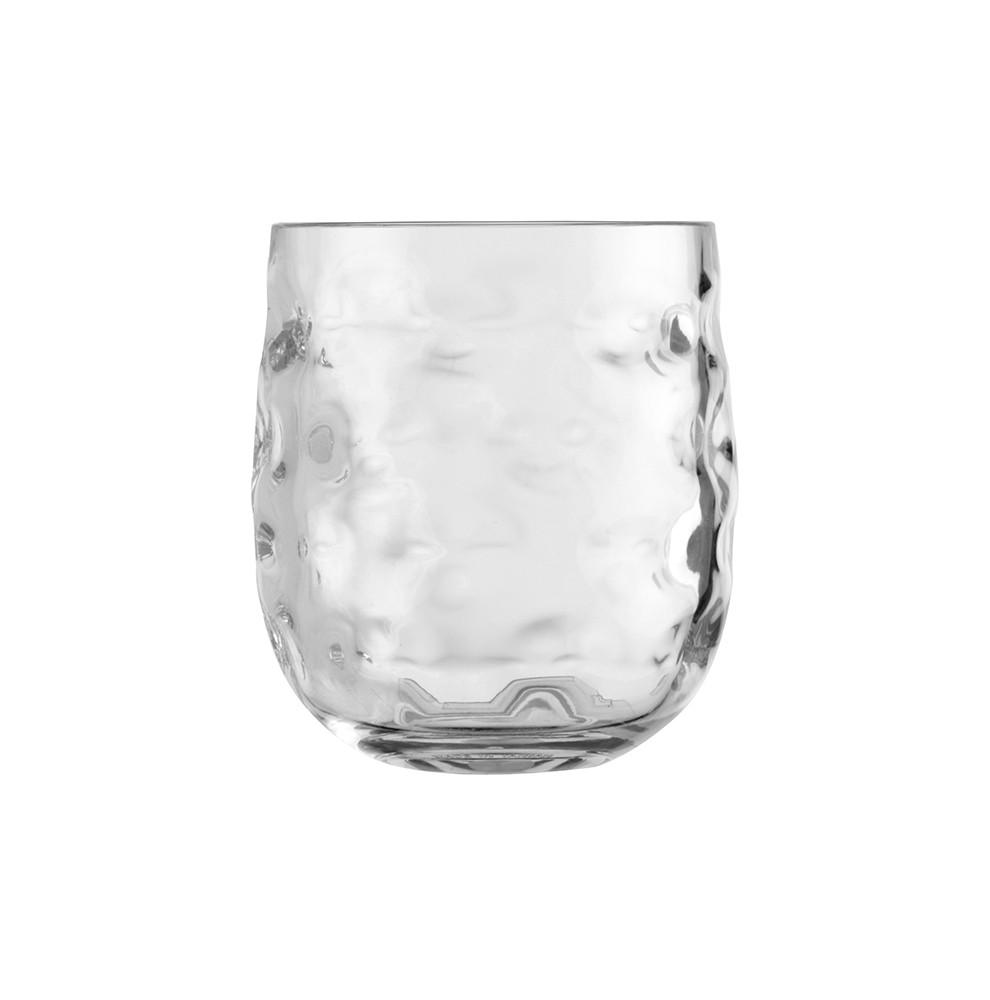 Service de 6 verres à eau transparents gris clair