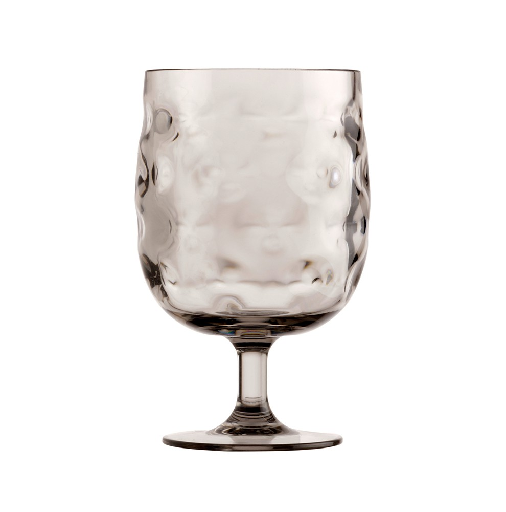 Pack de 6 verres à pied transparents marron