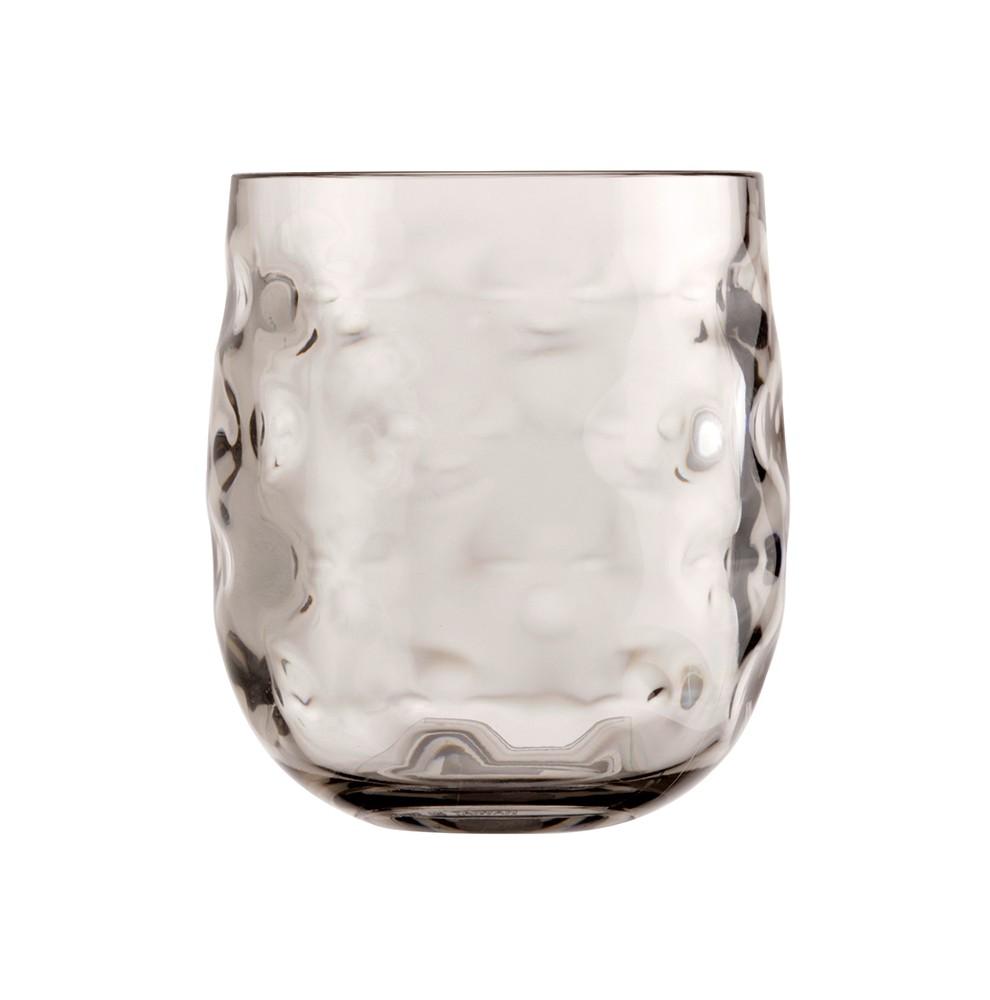 Set de 6 verres à eau transparents marron